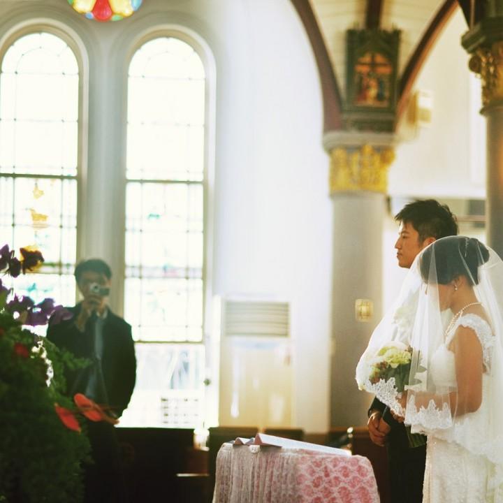 婚攝 | Teiko & 浩祥-天主教會婚禮 { 高雄-前金玫瑰天主堂/國賓飯店 }